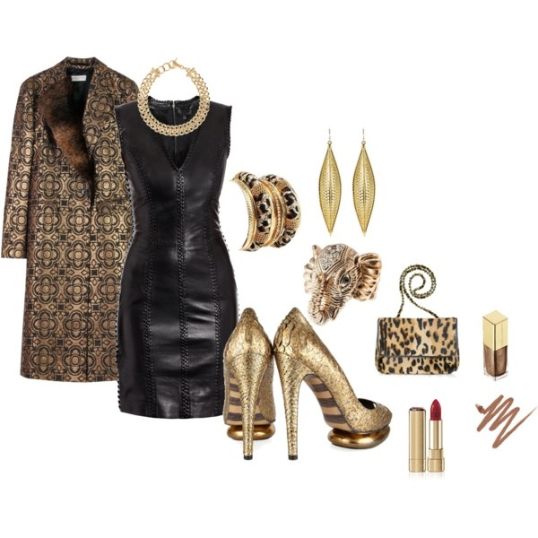 GOLD <3 I like this except the weird trenchcoat thing...