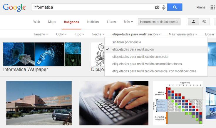 Como buscar imagenes en Google sin derechos de autor