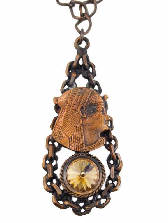 Copper Rhinestone Egypt Necklace