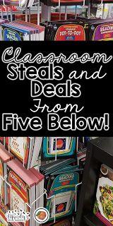 Classroom supplies, school supplies, and organization materials from Five Below!