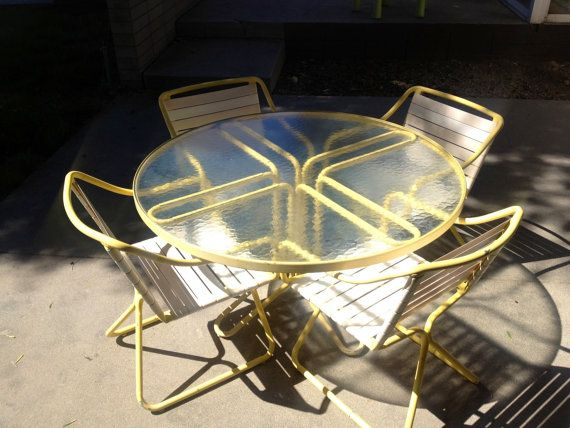 Brown+jordan+Kailua+patio+set+in+bright+yellow+by+1964MIDCENT,+$775.00 | Patio  Chairs | Pinterest | Brown Jordan, Patios And Vintage Patio Furniture