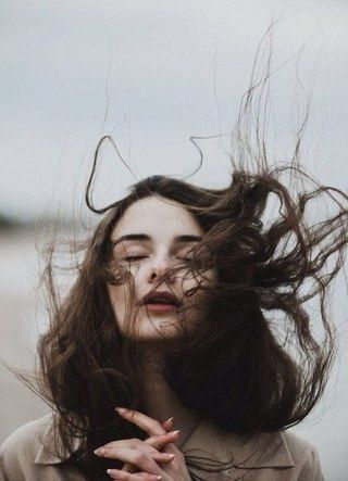 Wind blown hair