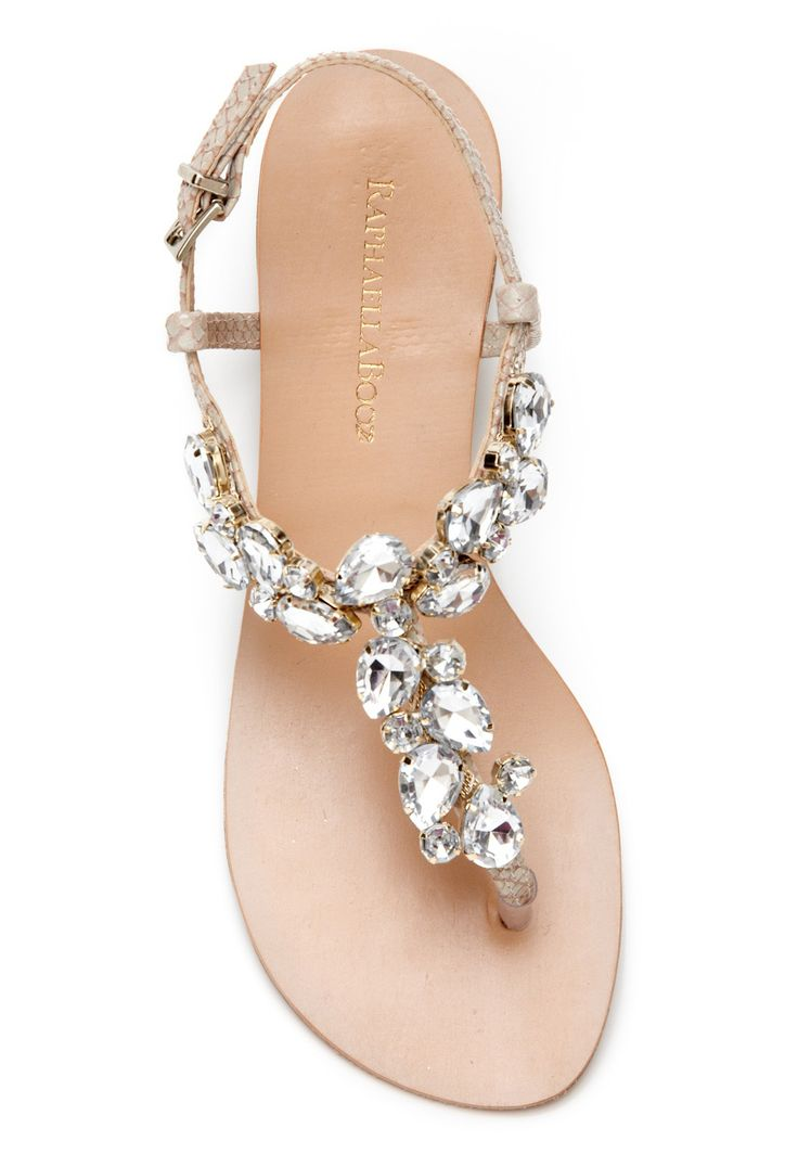 I will be wearing sandals just like these on my wedding day.