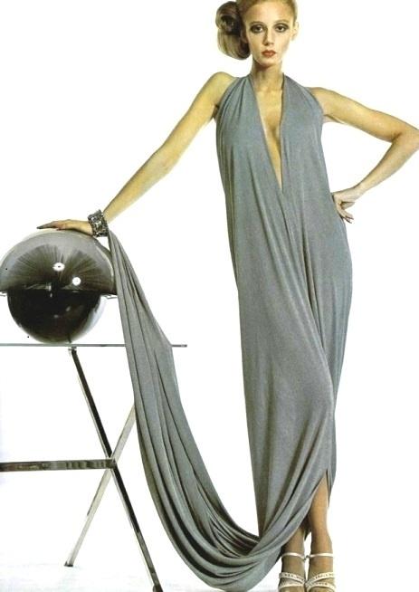 Delicate elegance.. Pierre Cardin, 1974