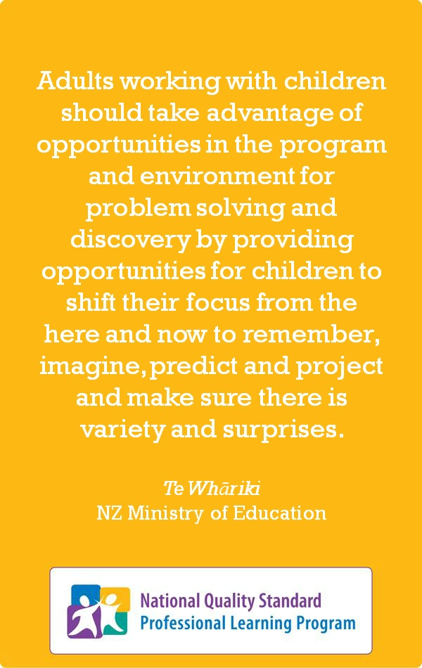 A Thinking Practice quote from 'Te Whāriki', the New Zealand Ministry of Education. http://www.earlychildhoodaustralia.org.au/nqsplp/social-media/