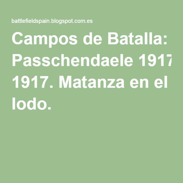 Batalla de Passchendaele