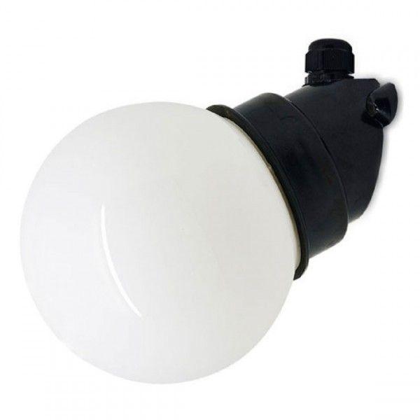 164354 Wand Stallamp met een Rond Melkglas