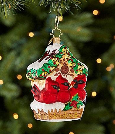 Christopher Radko Jingle Bell Hideaway Cardinal Ornament