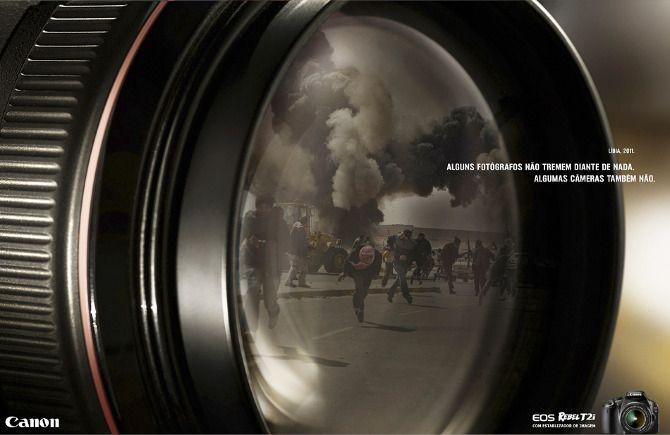 Alguns fotógrafos não tremem diante de nada. Algumas câmeras também não.  Câmera com estabilizador de imagem.