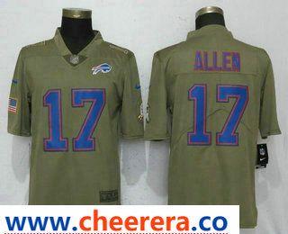 fd336a6f7 Men s Buffalo Bills  17 Josh Allen Olive 2017 Salute To Service Stitched NFL  Nike Limited Jersey