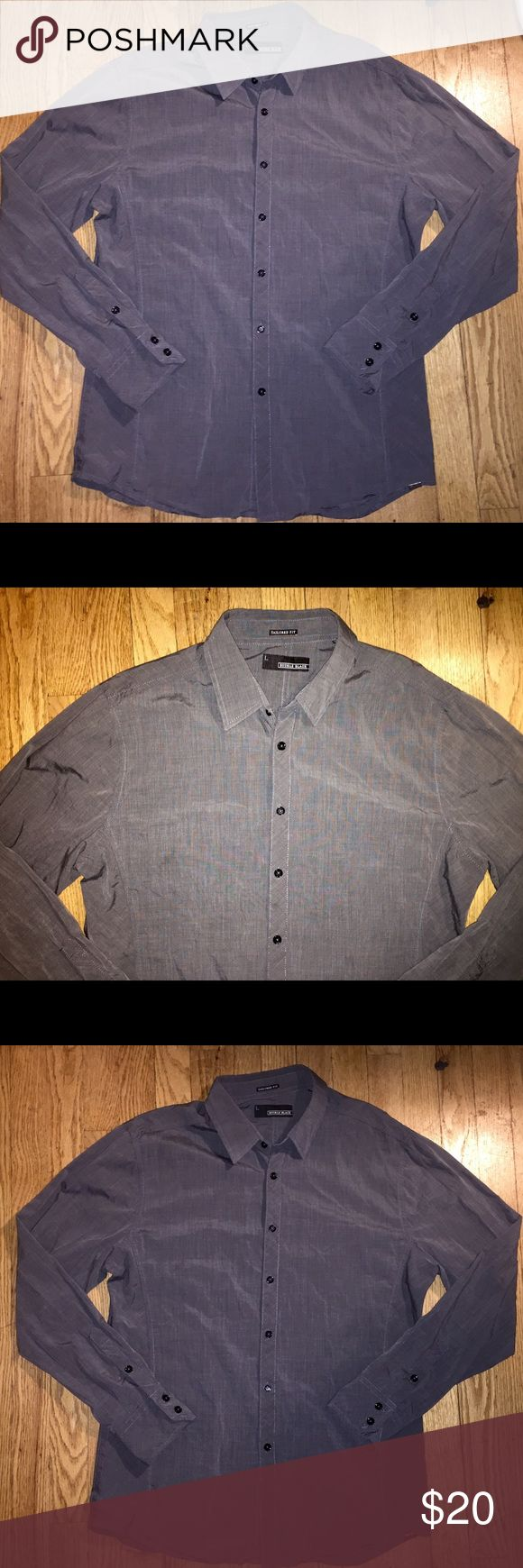 Mens Buckle Black Button Down Shirt Mens Buckle BKE Black Tailored Fit Mens Designer Button Down Long Sleeved Shirt in size Large. Buckle Shirts Casual Button Down Shirts