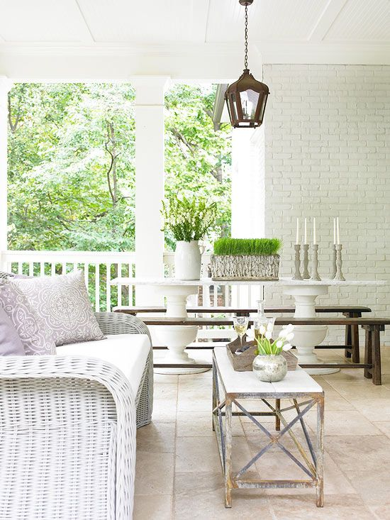 What a charming cottage-style porch. More porch ideas: http://www.bhg.com/home-improvement/porch/porch/porch-design-ideas/?socsrc=bhgpin051712=13
