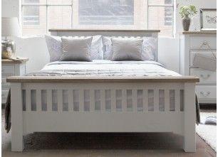 Super King Size (6 ft) Grey Oak Bed Frame - Georgia  - EZ Living Furniture-33