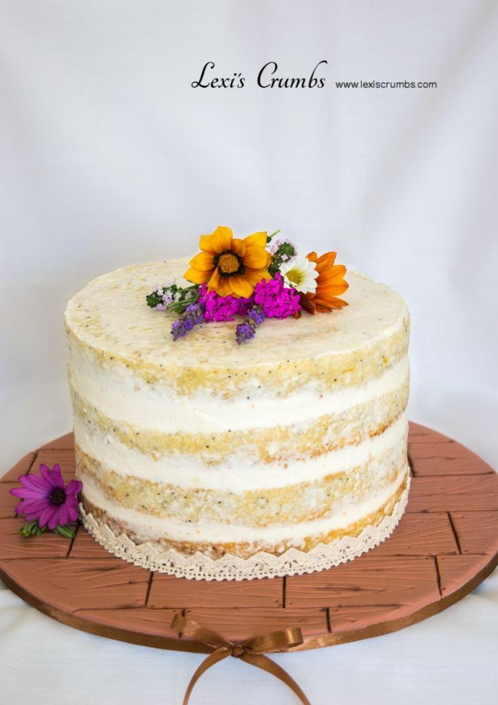 Lemon & poppy seed naked cake www.lexiscrumbs.com