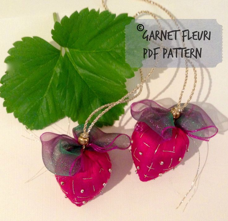 Silk Strawberry PDF Download by Garnetfleuri on Etsy