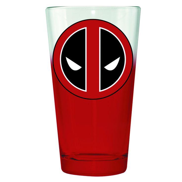 Deadpool Symbol Pint Glass