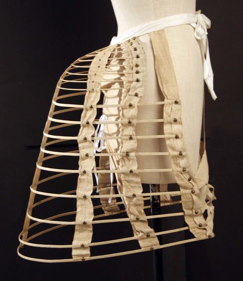 cage-style bustle ca. 1870s, via The Costume Institute of The Metropolitan Museum of Art