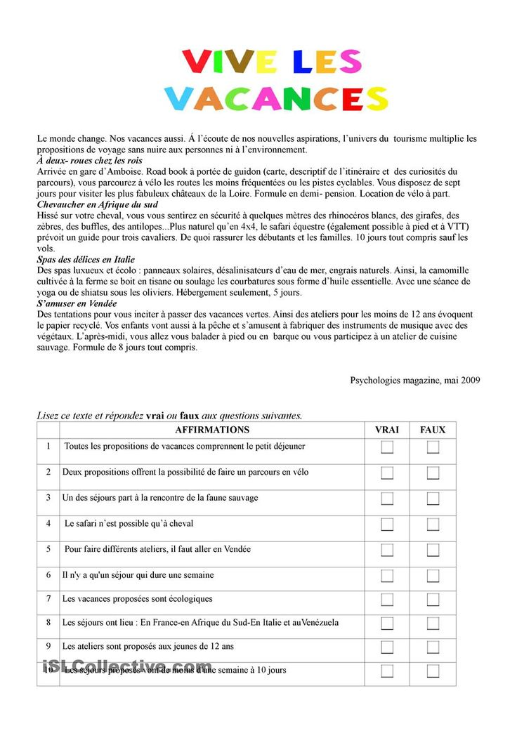 les vacances - french essay Essay sur les vacances message de kev55 posté le 13-12-2009 à 15:43:40 (sles  vacances french essay french essay igcse questions life pdf tablets love story.