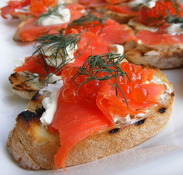 """Smoked Salmon Canape. 