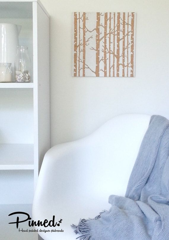 Birch forest design pinboard hand painted cork board by pinnednz #pinboard #corkboard #birch #scandi #scandistyle http://binaryoptions360review.com/