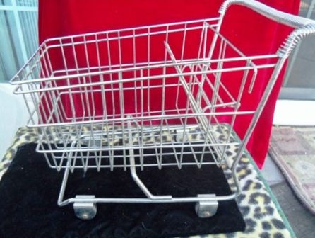 """Small shopping cart, about 18"""" long and another one about 8"""" long"""