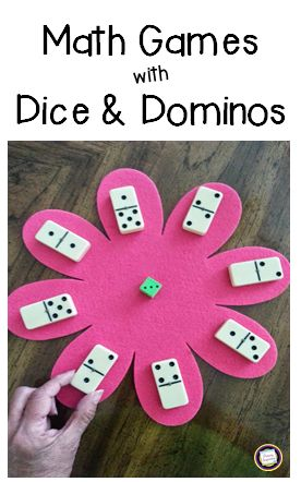 Use just dice, dominoes, and a felt shape for these addition games! Includes ideas for differentiation, too! http://primaryinspiration.blogspot.com/2014/06/keep-em-buzzy-blog-hop.html