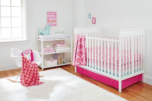 Bright, modern and happy! We love this Happy Chic Baby bedding by Jonathan Adler! @NoJo:  Cots, Happy Chic, Chic Baby, Adler Olivia, Baby Beds, Pink Nurseries, Projects Nurseries, Jonathan Adler, Baby R Us