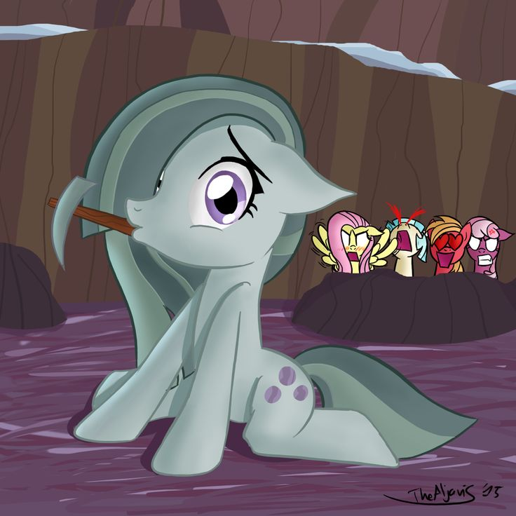 Marble Pie #1 by TheAljavis.deviantart.com on @DeviantArt, I can tell Fluttershy is confused and jealous, and also Big Mac could be her cousin!