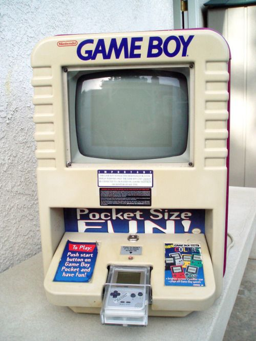 Gameboy Pocket Store Display #nintendo #gaming << I REMEMBER THESE THEY WERE THE BEST