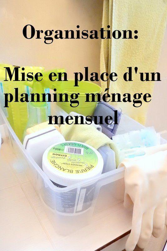 rganisation mise en place d'un planning menage mensuel 1