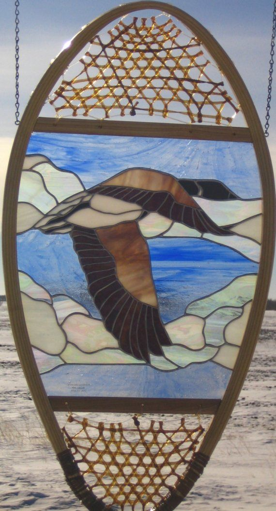 Canada Goose Stained Glass Snowshoe by StonehouseGlassworks, $350.00