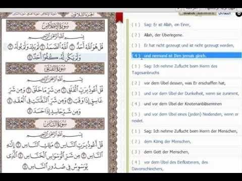 Sinne des Koran auf Deutsch