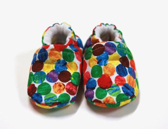Hungry Caterpillar shoes baby girl shoes crib by ElleBelleBliss