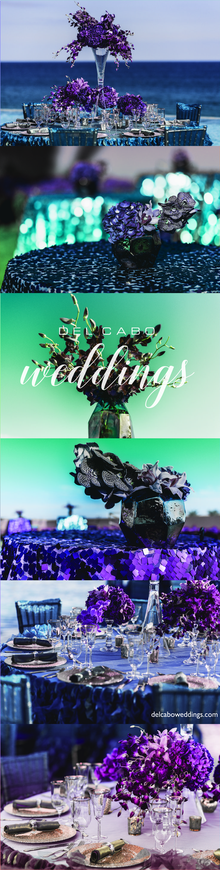 Have a jewel wedding reception at beautiful Cabo! Have a unique destination wedding full of diamonds and sparkle!
