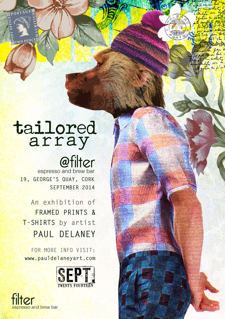 Poster 1 for my upcoming exhibition 'Tailored Array, September 2014