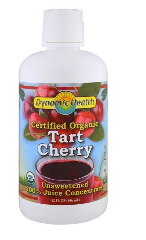 Certified Organic Tart Cherry Juice Concentrate Unsweetened, 32 fl oz (946 ml) #DynamicHealthLaboratories