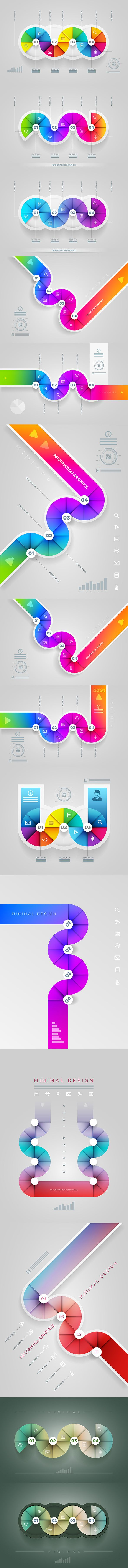 Colorful infographics.