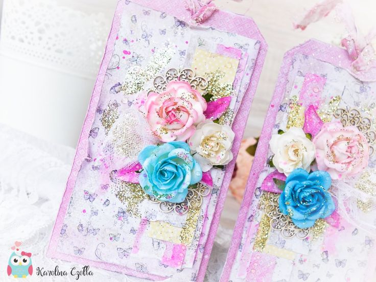 Romantic shabby chic tags #tag #cardmaking # scrapbooking #papercraft