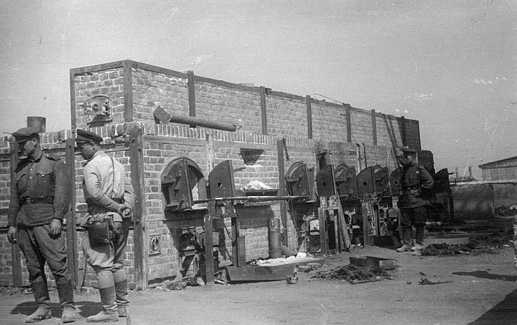 Soviet soldiers inspecting the ovens at Majdanek Concentration Camp, Lublin, Poland, Jul-Aug 1944