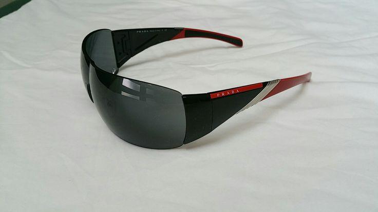 Prada unisex sport wrap sunglasses w case Unisex 7/10 $250 #prada #fashion #sunglasses #luxury #style #ebay Sold