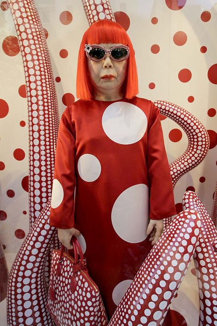 83 year old Japanese artist Yayoi Kusama. I wonder if I can pull this look off in another 20 years?