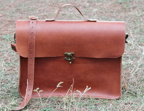 "Brown leather laptop bag 15"",macbook bag,leather briefcase"