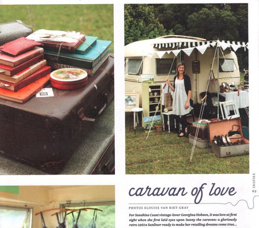 perpetual one's lovely little market caravan 'Sunny' has me planning a weekend up to Peregian beach to see it for myself.
