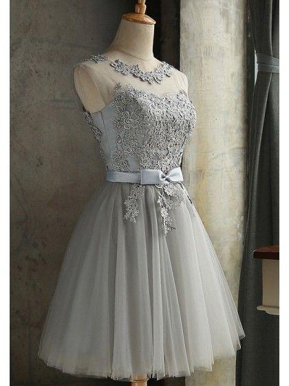 fc3863e51fd Lace Bow Grenadine Lace-up Bridesmaid Elegant Tutu Homecoming Mini Dress   Sum160495