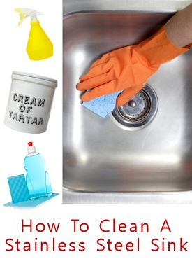 Awesome 3 Step Solution To Clean Your Stainless Steel Kitchen Sink Uses All Natural