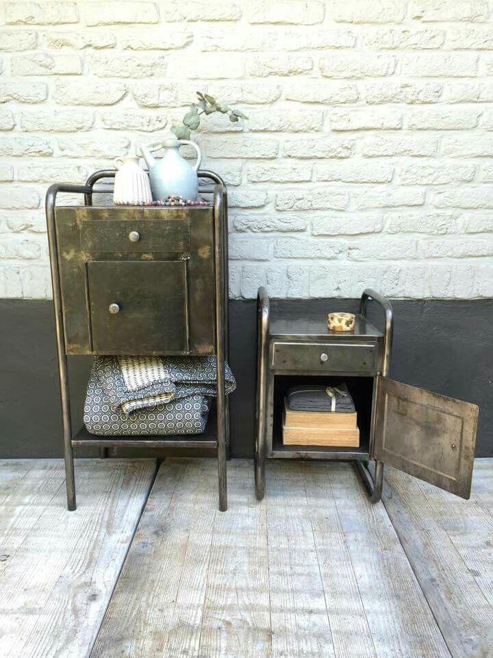 Les 104 meilleures images propos de mobilier industriel sur pinterest ind - Brocante mobilier industriel ...