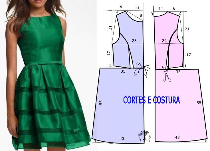 Atraente e belo este modelo de vestido casual chic é fácil de cortar e costurar…