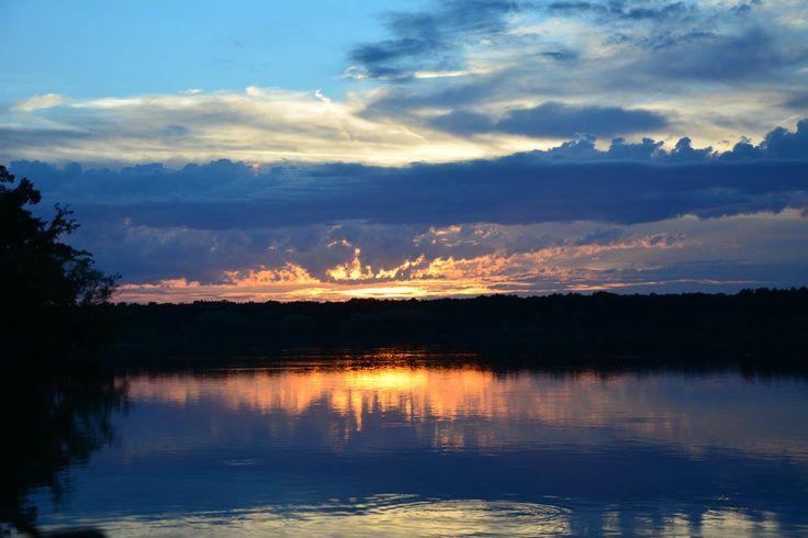Dáša - západ slunce nad Munickým rybníkem