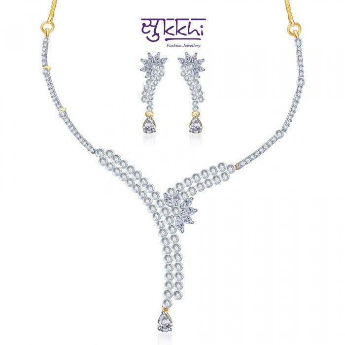 Elegant CZ Necklace Set | High5Store.com