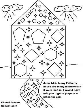 Mansions In Heaven And Streets Of Gold Coloring Page